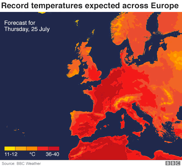 Європу чекають нові рекордні температури - фото 343179
