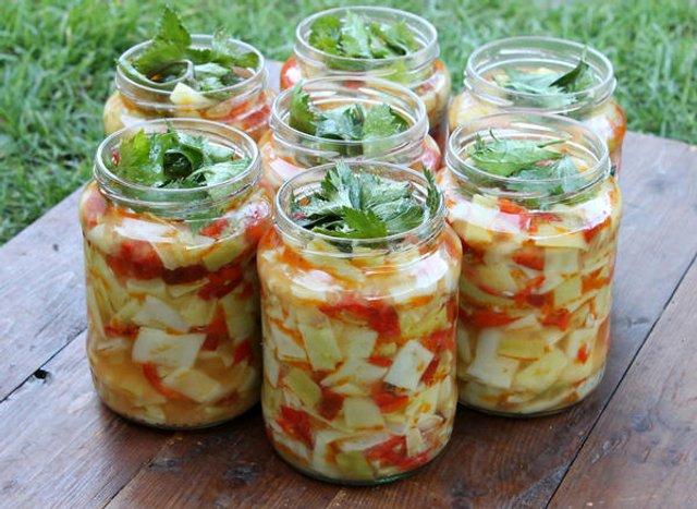салат з кабачків на зиму - фото 343987