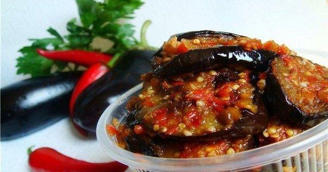 салат з баклажанів та аджики на зиму - фото 344025