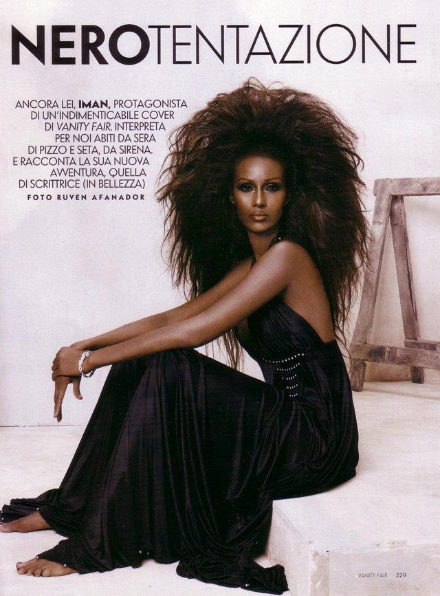 Моделі 90-х: як змінилася екзотична сомалійка Іман (18+) - фото 345245