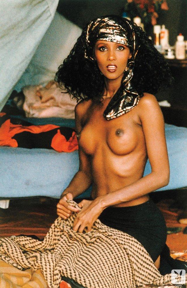 Моделі 90-х: як змінилася екзотична сомалійка Іман (18+) - фото 345251