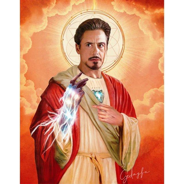 Справжні апостоли: митець перетворює відомих персонажів кіно на святих - фото 346782