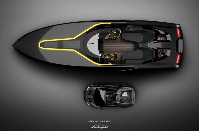 Так міг би виглядати швидкісний катер з дизайном Lamborghini - фото 347558