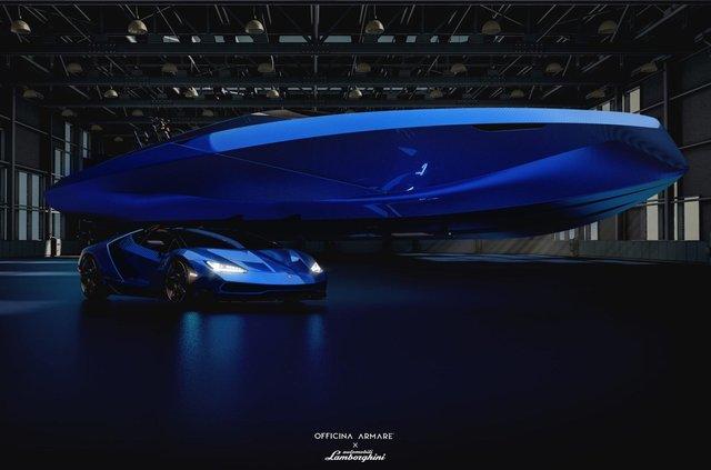 Так міг би виглядати швидкісний катер з дизайном Lamborghini - фото 347559