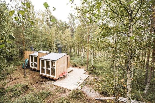 Фінські студенти власноруч створили ідеальний дім у лісі: вражаючі фото - фото 349189