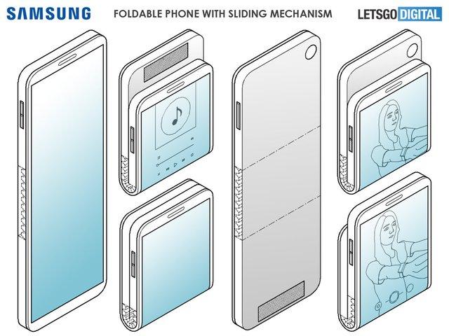 Samsung запатентувала альтернативу 'розкладачки' Motorola RAZR - фото 349353