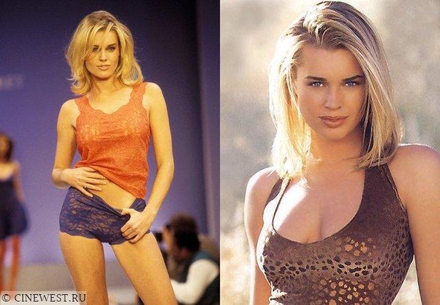 Моделі 90-х: як змінилася білява амазонка Ребека Ромейн (18+) - фото 350582