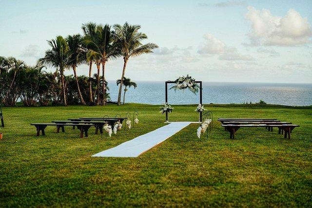 Двейн Джонсон показав яскраві фото з весілля на Гаваях - фото 351748