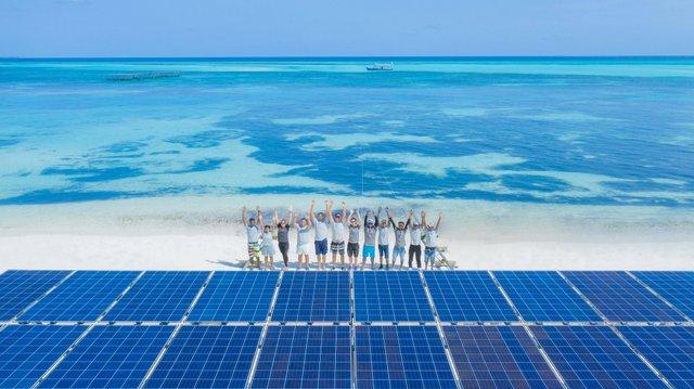 На Мальдівах побудували найбільшу у світі плавучу електростанцію: фото - фото 352906