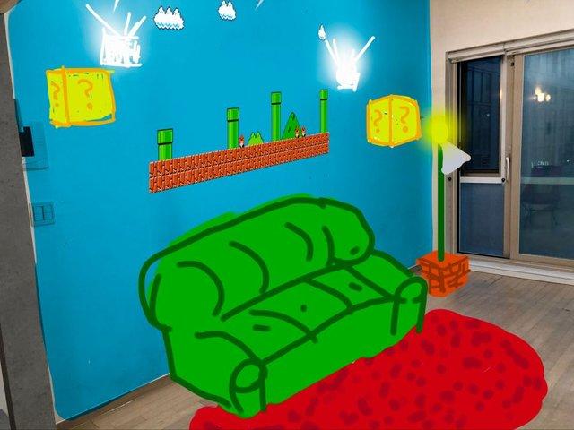Фанат Super Mario облаштував кімнату в стилі відеогри - фото 352908