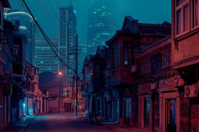 Кіберпанкові вулиці Шанхая: фото, які змушують затримати погляд - фото 354204