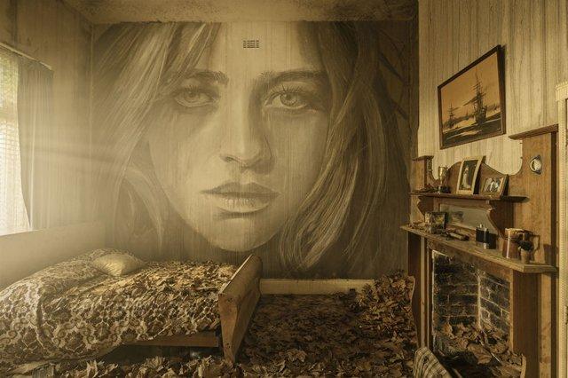 Дивовижні портрети жінок на стінах покинутих будинків - фото 355122