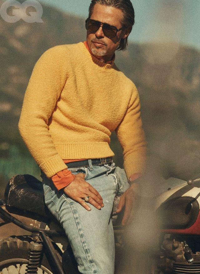 На тебе полюють: Бред Пітт знявся для GQ і дав круте інтерв'ю - фото 355556