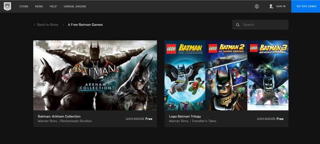 Магазин Epic Games роздає безкоштовно шість ігор про Бетмена: як отримати - фото 356279