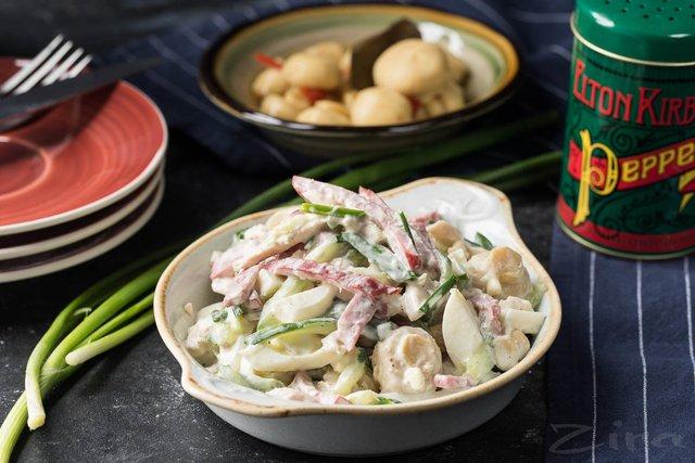 Салат з грибів і курки - фото 356413