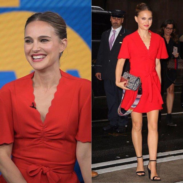 Наталі Портман похвалилася шикарною фігурою в червоній сукні - фото 359578