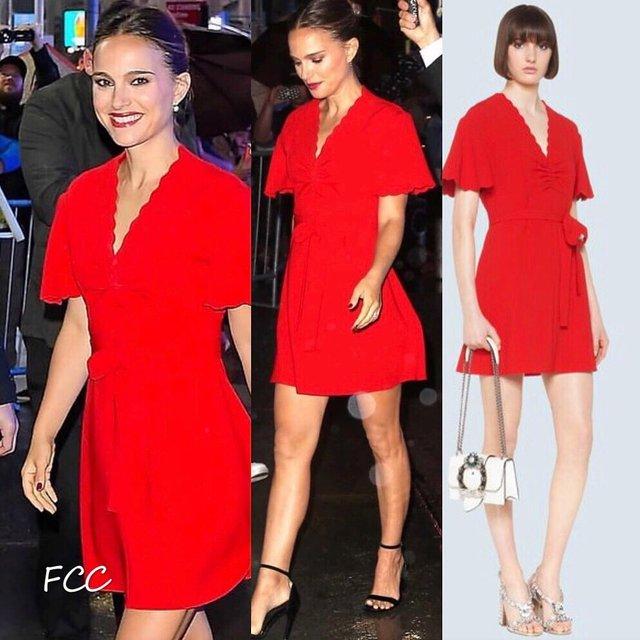 Наталі Портман похвалилася шикарною фігурою в червоній сукні - фото 359580