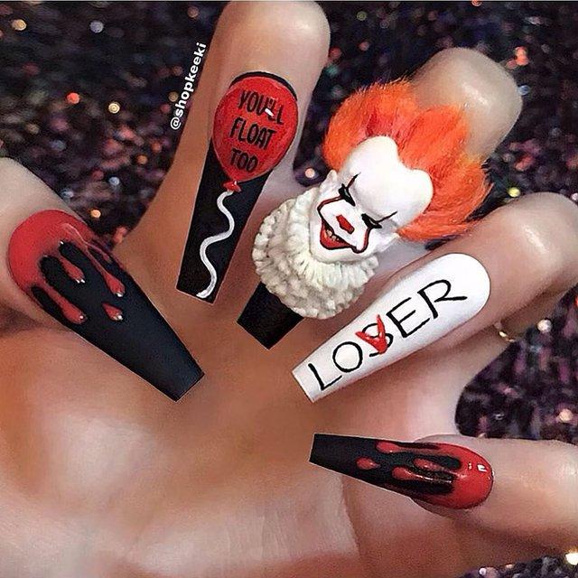 Манікюр на Хеловін 2019: модні тренди дизайну нігтів у фото - фото 363077