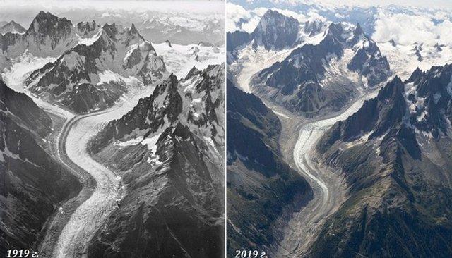 Як змінилися Швейцарські Альпи за останні сто років - фото 363153