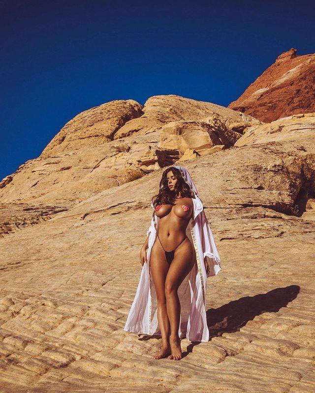 Сексуальна Демі Роуз роздяглась посеред пустелі (фото 18+) - фото 363371