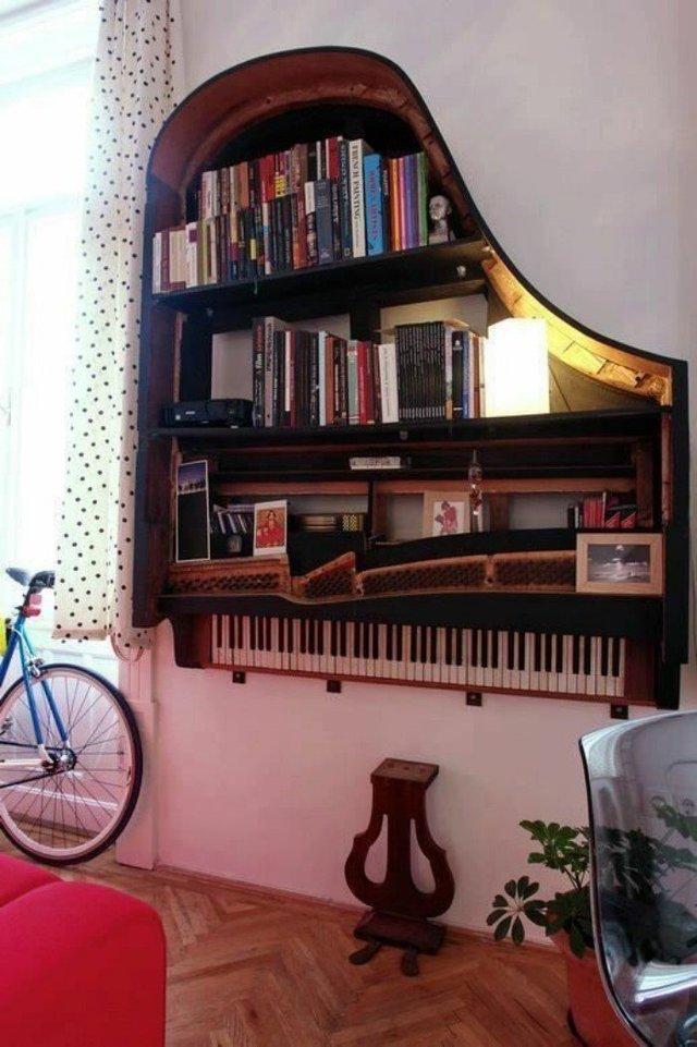 Старі піаніно перетворили у стильні меблі: ідеї для декору - фото 363379