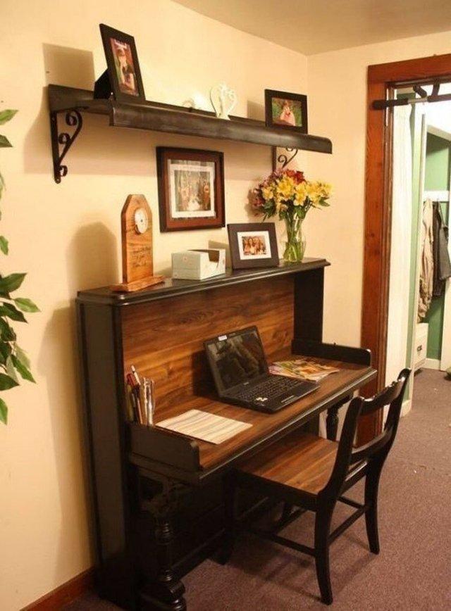 Старі піаніно перетворили у стильні меблі: ідеї для декору - фото 363380