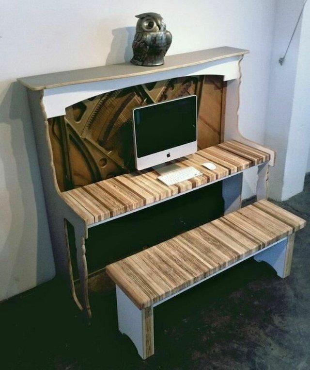 Старі піаніно перетворили у стильні меблі: ідеї для декору - фото 363383