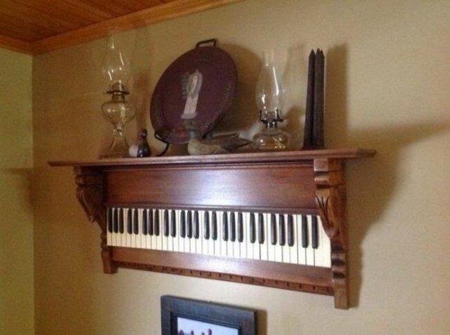Старі піаніно перетворили у стильні меблі: ідеї для декору - фото 363390