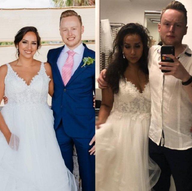 Пара показала фото до й одразу після весілля: молодят не впізнати - фото 363888