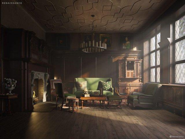 Від ренесансу до сьогодні: як змінювався інтер'єр вітальні за 600 років - фото 365519