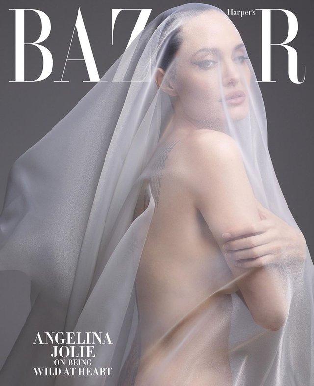 Анджеліна Джолі знялася оголеною у сміливій фотосесії - фото 366313