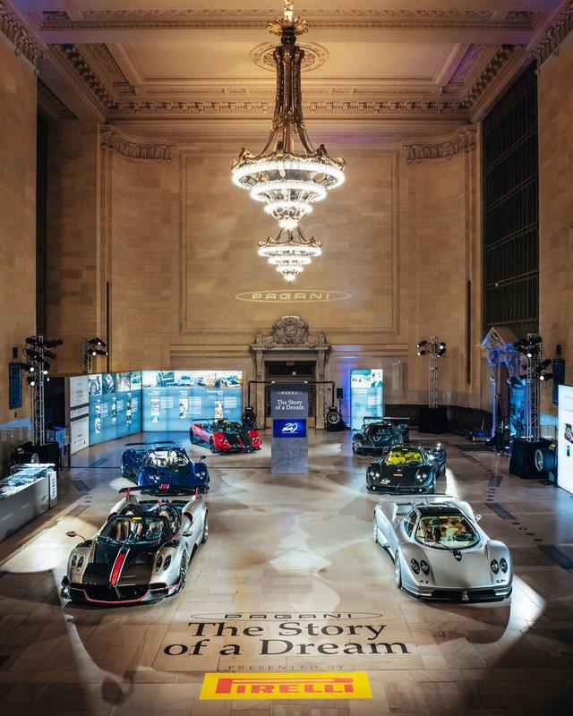 Pagani перетворили вокзал Нью-Йорка на автомобільний музей - фото 366903
