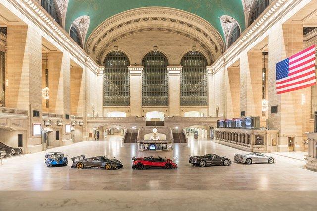 Pagani перетворили вокзал Нью-Йорка на автомобільний музей - фото 366906