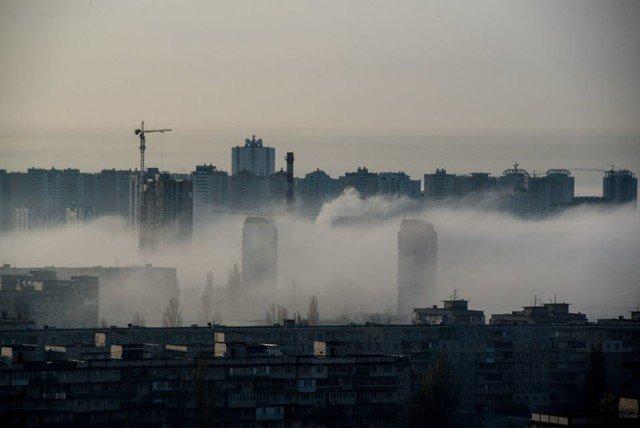 Київ оточила стіна туману: кадри незвичайного явища - фото 367495