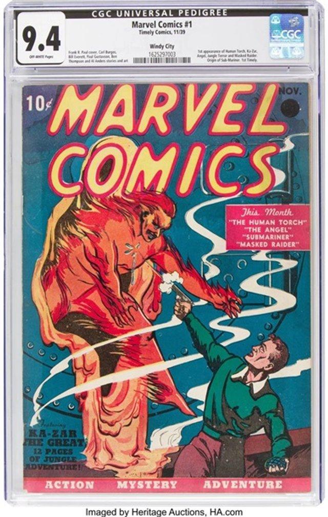 Перший комікс Marvel продали за скажені гроші - фото 369642