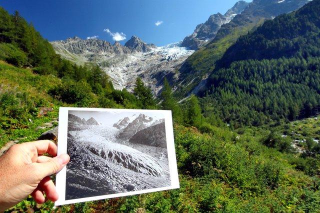 Науковці показали, як зникають льодовики у Швейцарських Альпах: фото - фото 370431