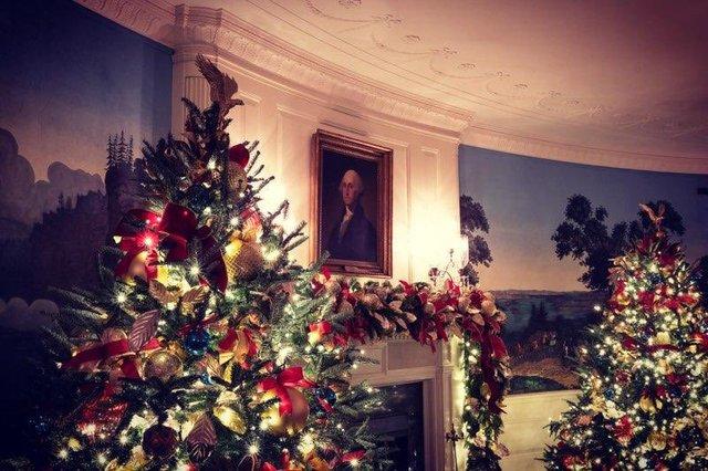 Меланія Трамп показала, як прикрасила Білий дім до Різдва - фото 371811