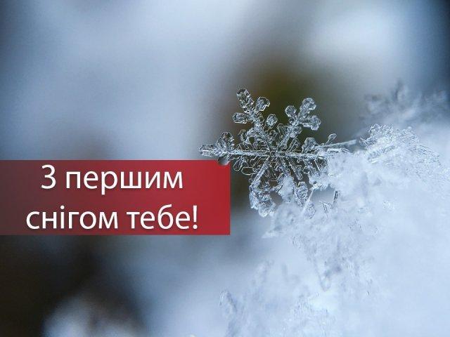 З першим снігом! Вітальні картинки, листівки і фото з початком зими - фото 371857