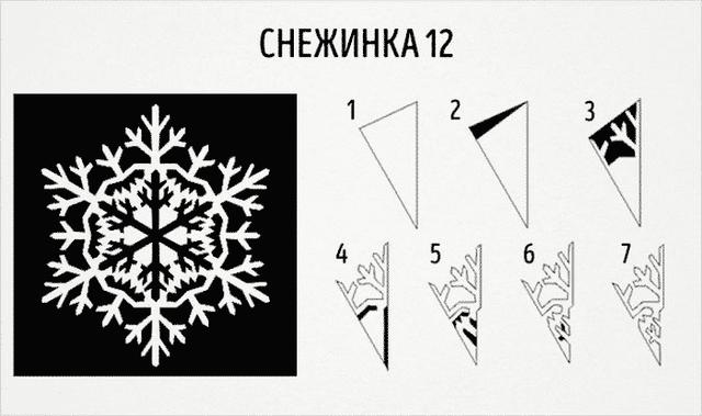 Трафарети на Новий рік: шаблони, як зробити витинанки для вікон - фото 372729