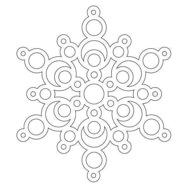Трафарети на Новий рік: шаблони, як зробити витинанки для вікон - фото 372734