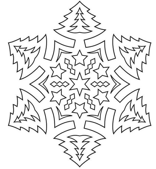 Трафарети на Новий рік: шаблони, як зробити витинанки для вікон - фото 372736