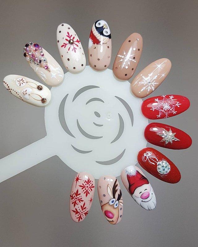 Новорічний манікюр 2020: готові варіанти нігтів на Новий рік у фото - фото 372818