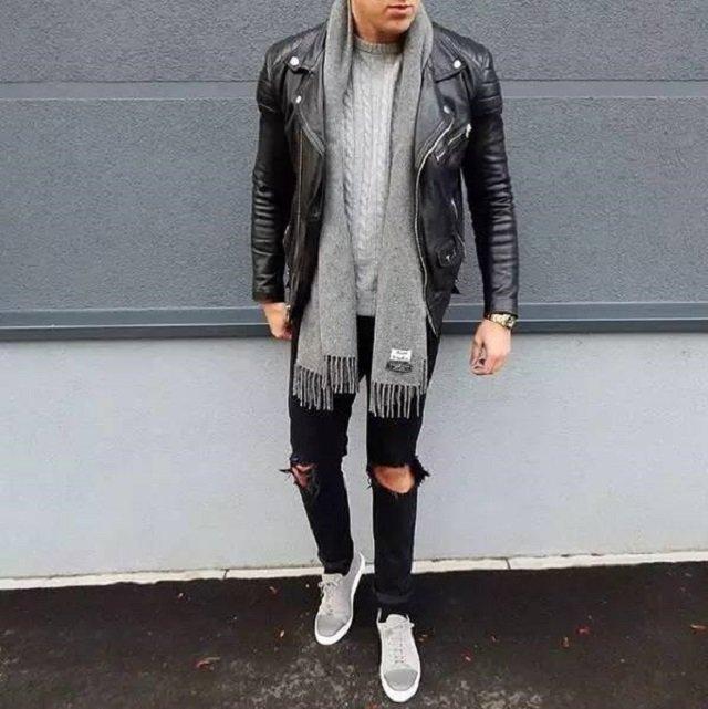 Як і з чим носити чоловічий шарф: 10 модних образів у фото - фото 374284