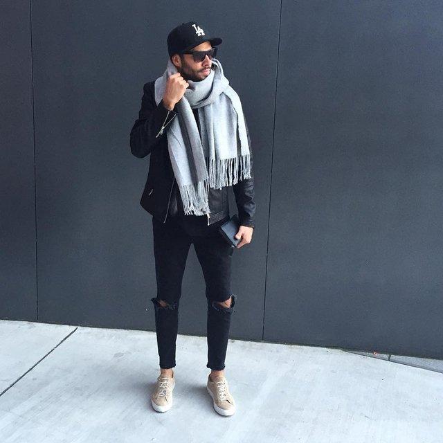 Як і з чим носити чоловічий шарф: 10 модних образів у фото - фото 374292