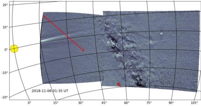 Сонячний зонд NASA зняв примарні сліди астероїда - фото 374302