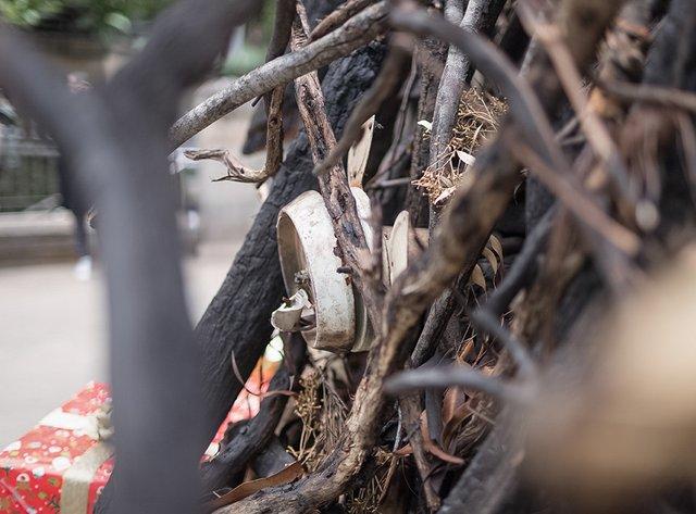 В Австралії поставили ялинку зі спалених гілок, і ось чому - фото 375398