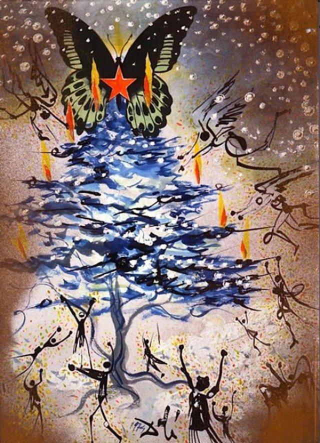 Справжня психоделія: як виглядають різдвяні листівки від Сальвадора Далі - фото 376740