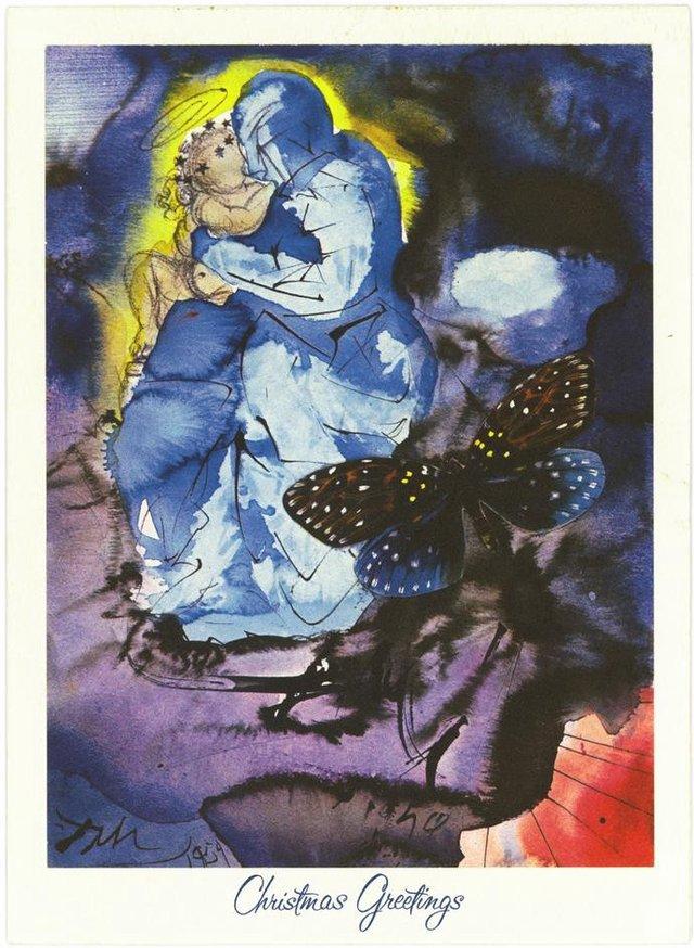 Справжня психоделія: як виглядають різдвяні листівки від Сальвадора Далі - фото 376741