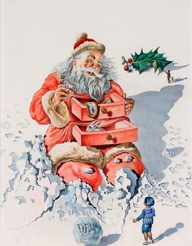 Справжня психоделія: як виглядають різдвяні листівки від Сальвадора Далі - фото 376745