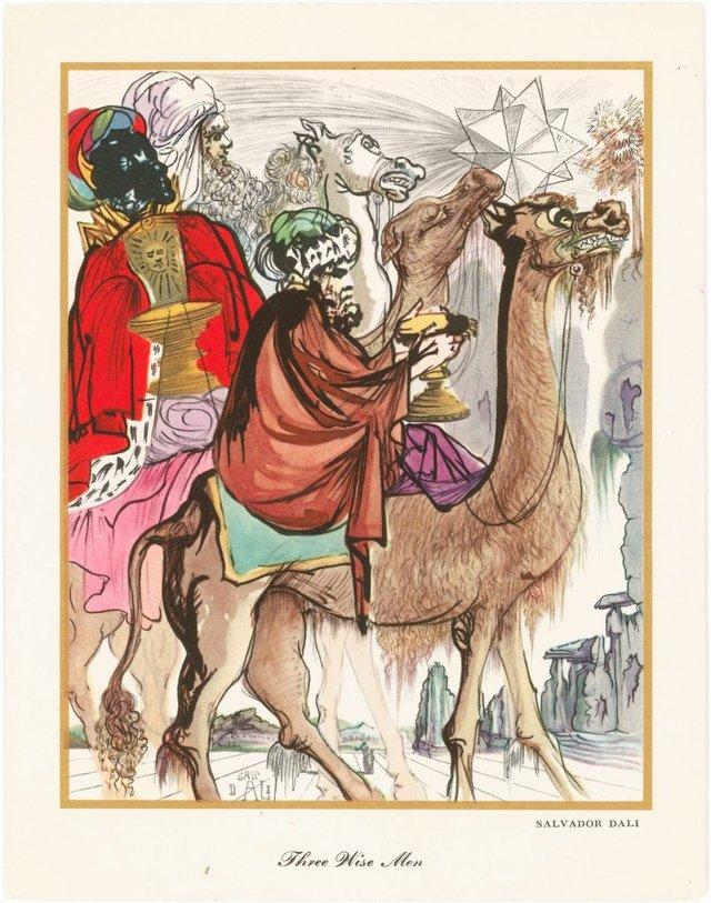 Справжня психоделія: як виглядають різдвяні листівки від Сальвадора Далі - фото 376747